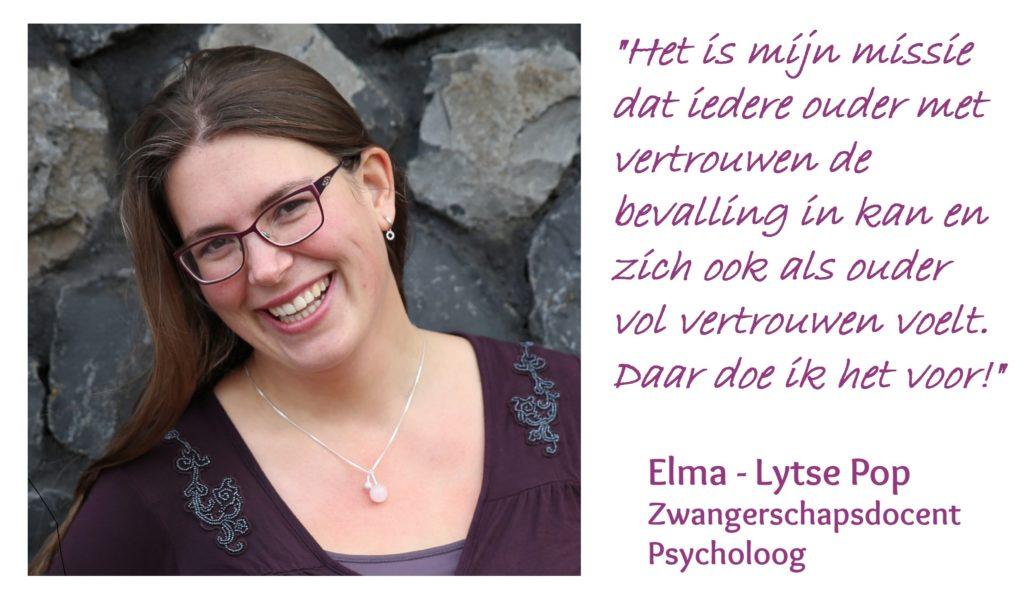 De uitgeschreven missie en een foto van Elma